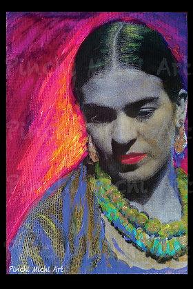 Pink Frida Poster