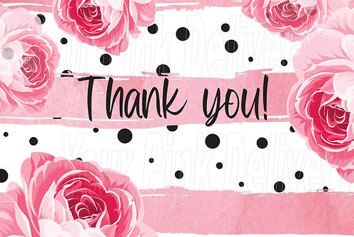 Thank You Pink Flower