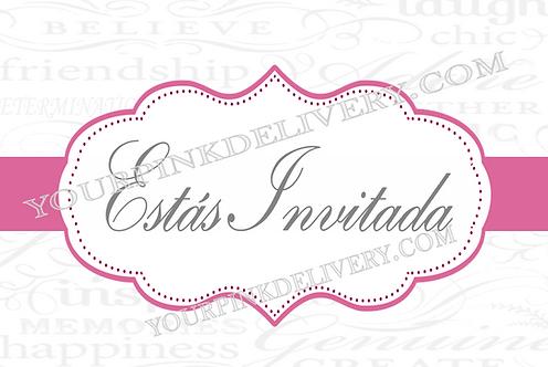 Invitación de lujo