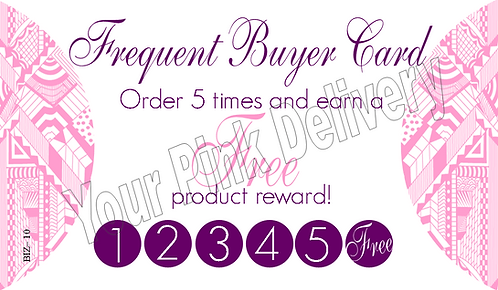 Frequent Buyer Punch Card