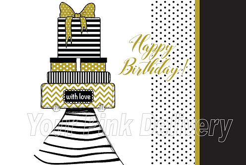 Happy Birthday Gold & Black