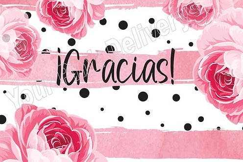 Spanish Thank you Pink Flower