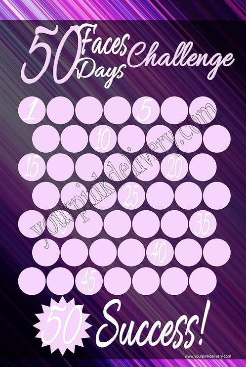 50 Faces Purple