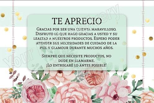 Spanish I appreciate you - Green