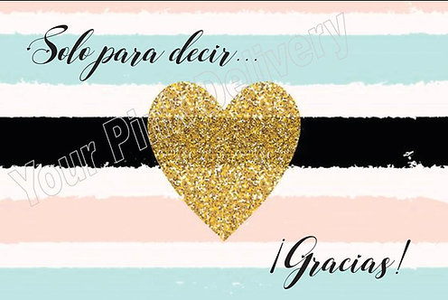 Spanish Thank you gold heart