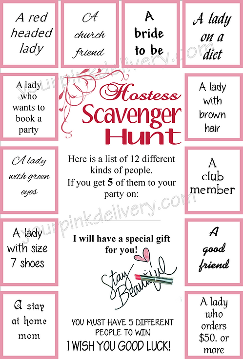 Hostess Scavenger Hunt