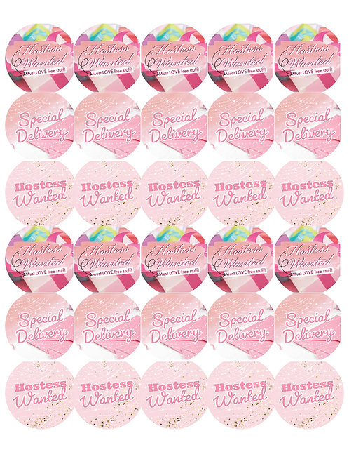 Hostess Wanted Stickers