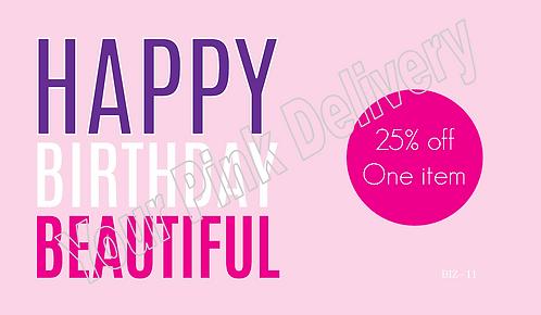 Happy Birthday 25% Off