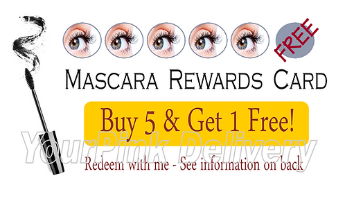 Mascara Punch Card