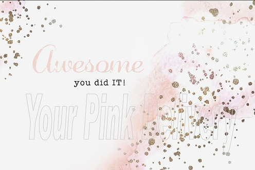 Awesome You Did it !!