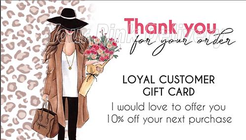 Loyal Customer Coupon - Animal Print