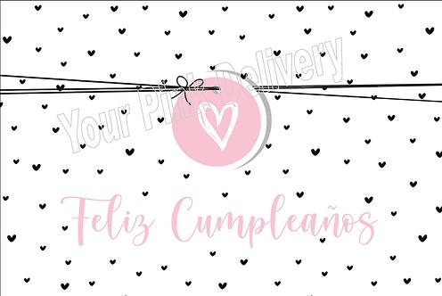 Spanish Happy Birthday Pink Tag