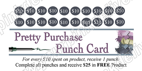 Pretty Purchase Punch Card