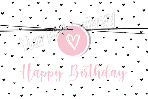 Happy Birthday Pink Tag