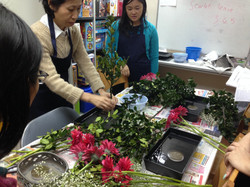 Ms Ando demonstrating to students