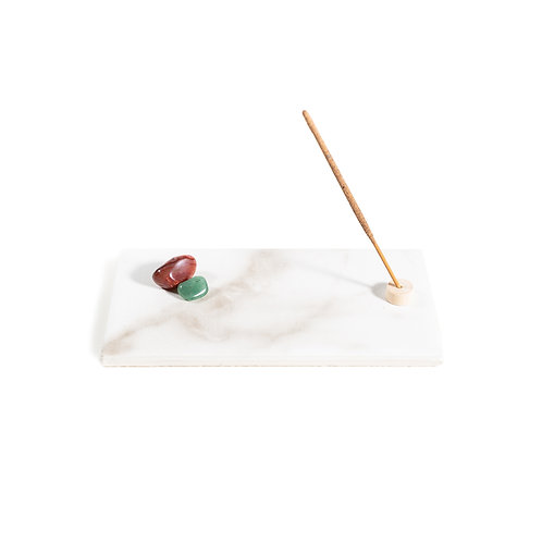 Polished Marble Incense Tray