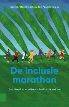Omslag De Inclusiemarathon (illustratie: Merel Corduwener)