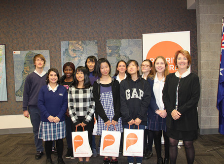 Japanese students welcomed to Penrith