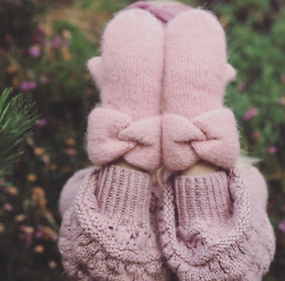 Felted Twist Mittens for Kids
