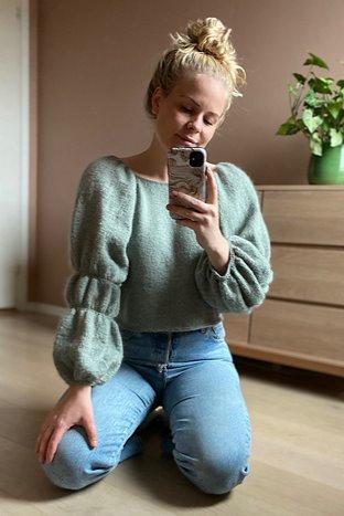 Bubble Sleeve Sweater