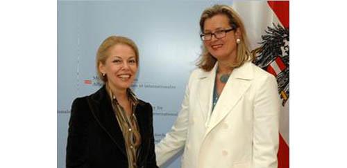 Foreign Minister Ursula Plassnik and Ruzica Djindjic
