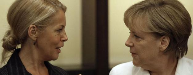 Ruzica Djindjic and Angela Merkel