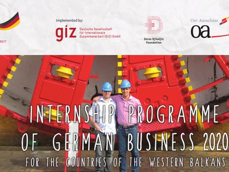 Konkurs za Program Stipendija Nemačke Privrede Zoran Đinđić 2020
