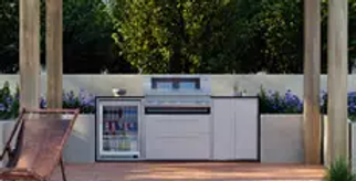 BeefEater ProFresco Signature 5 Trio Outdoor Kitchen - White