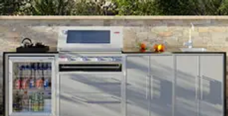 BeefEater ProFresco Signature 4 Quatro Outdoor Kitchen - Silver Grey