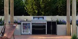BeefEater ProFresco Signature 5 Trio Outdoor Kitchen - Black