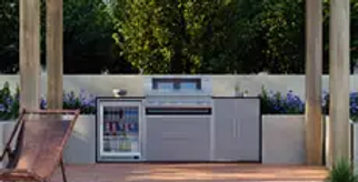 BeefEater ProFresco Signature 5 Trio Outdoor Kitchen - Silver Grey