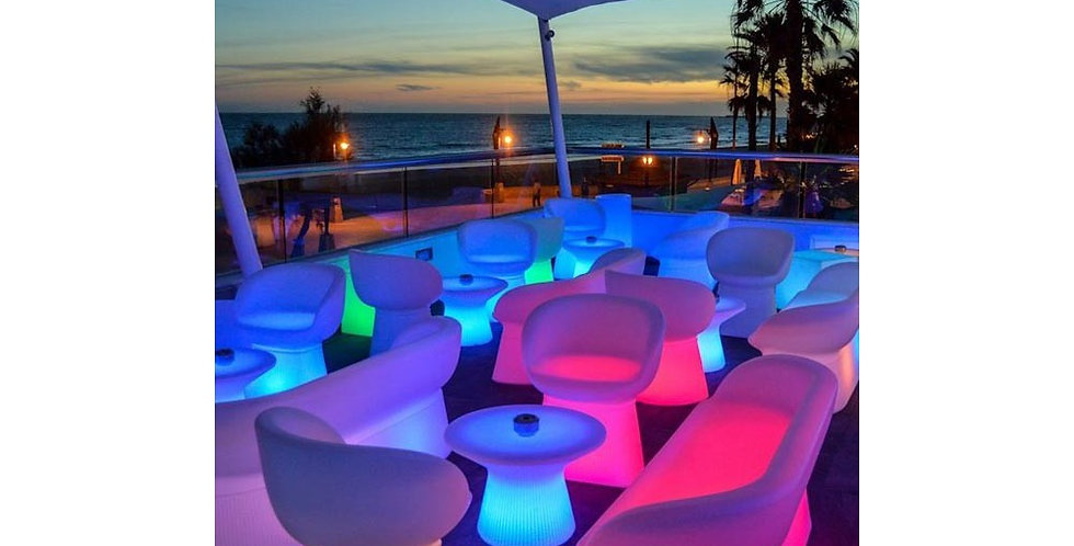 Capri 40 Illuminated LED table by New Garden Spain