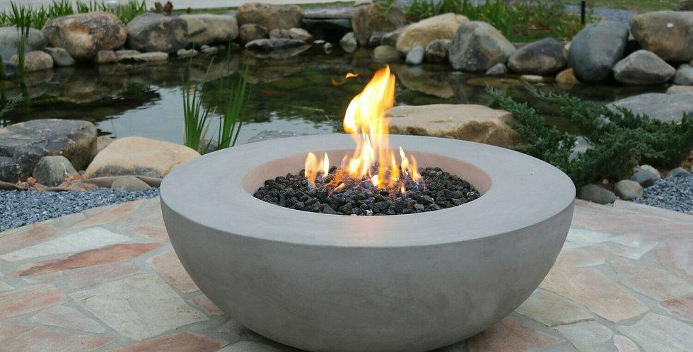 Conc cast concrete grey bowl