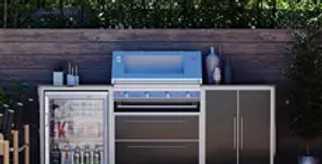 BeefEater ProFresco Signature 4 Trio Outdoor Kitchen - Black
