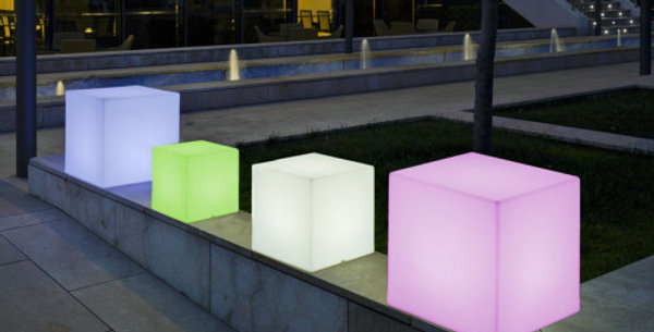 New garden cuby or cuby play in various sizes. Illuminated seats/lights