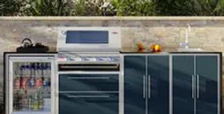 BBeefEater ProFresco Signature 4 Quatro Outdoor Kitchen - Anthracite