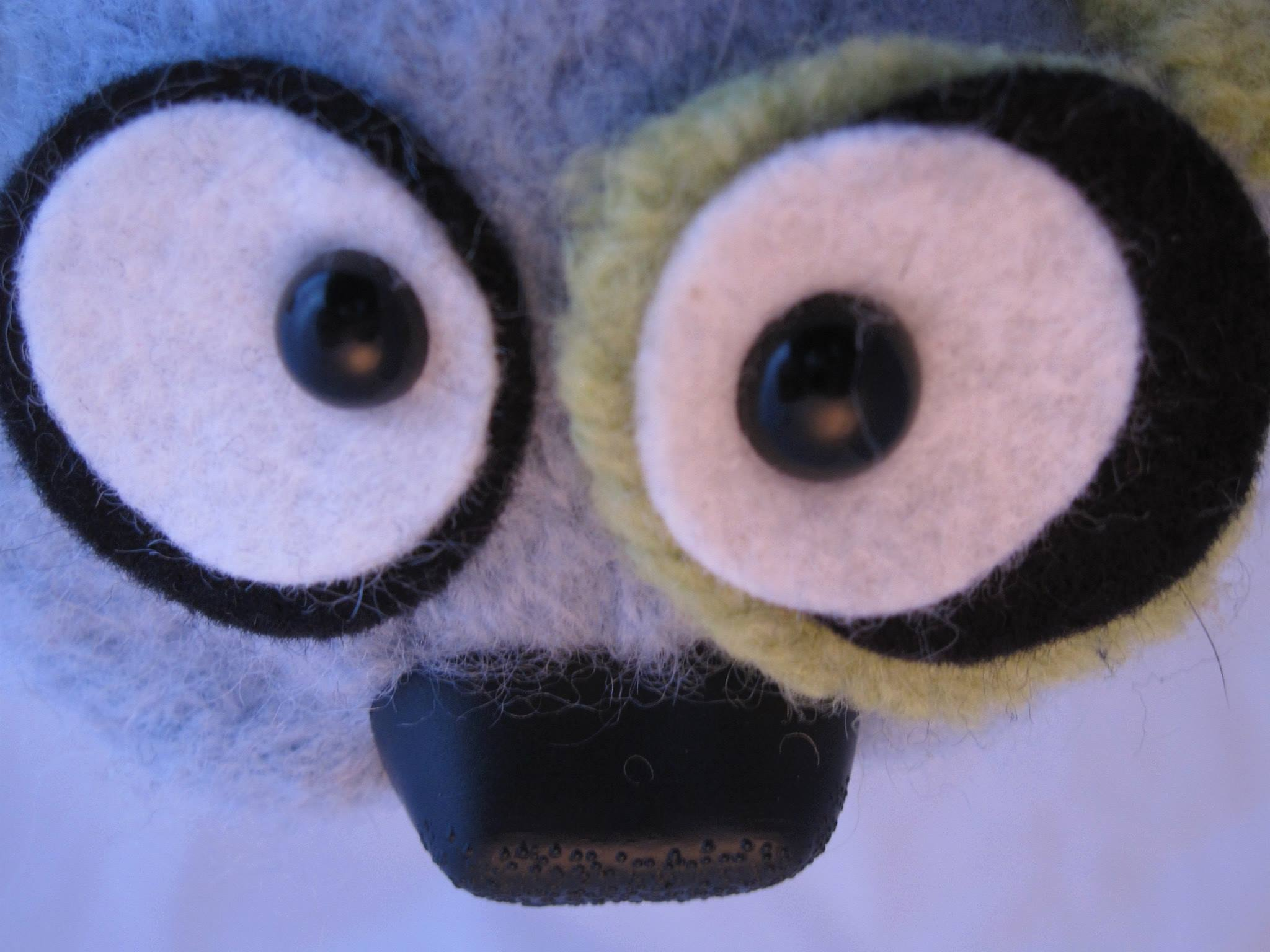 Detail of custom puppet face