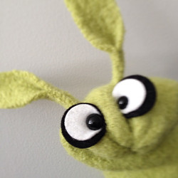 Handcrafted wool Bunny Puppet