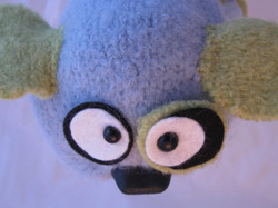 Top view of custom puppet