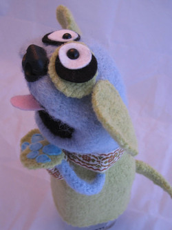 Side view of custom puppet