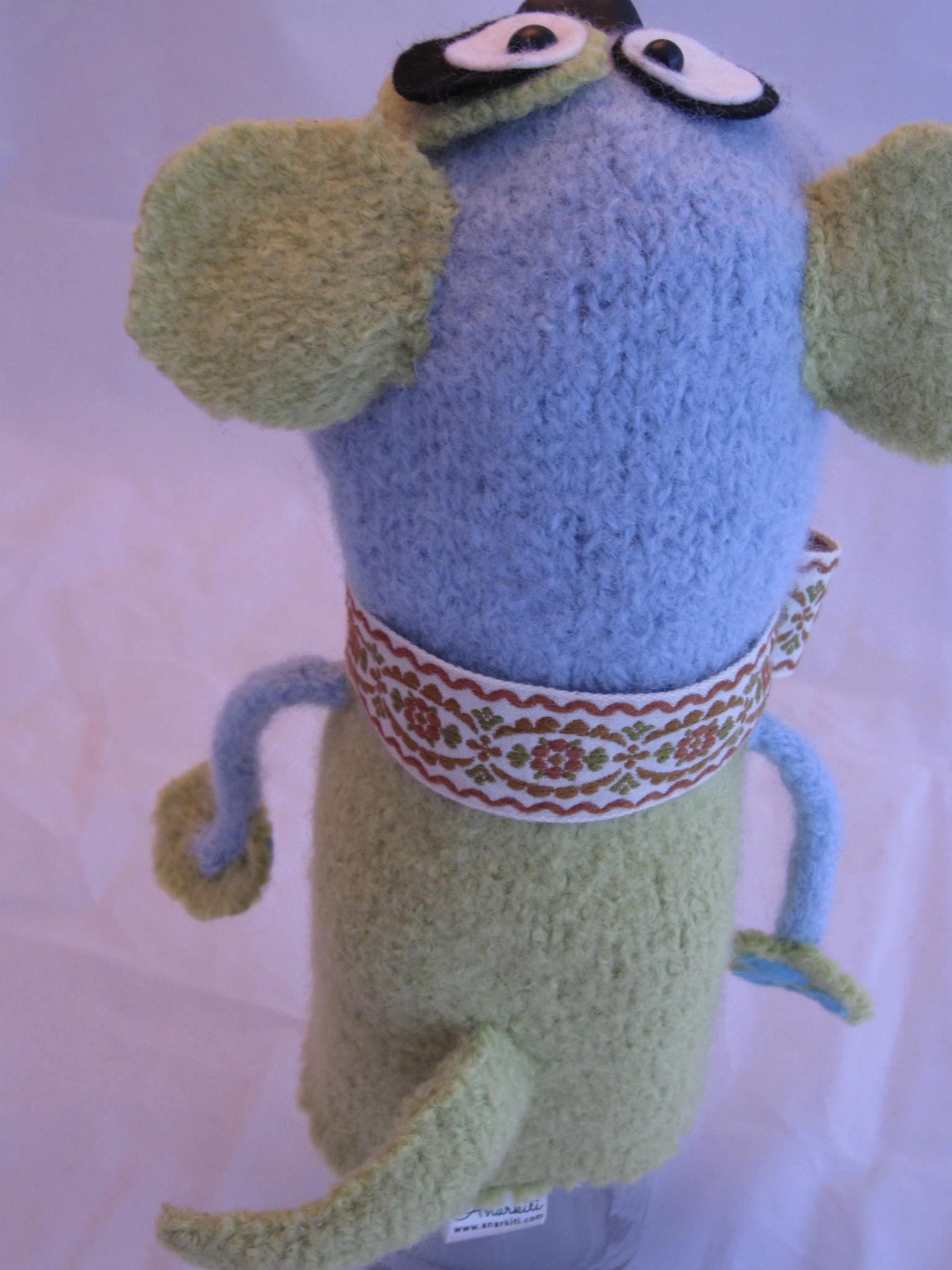 Back view of custom puppet