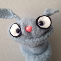 Handcrafted wool Bunny hand puppet