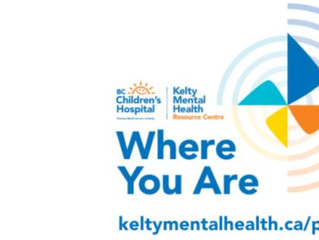 BC Children's Kelty Mental Health Resource Centre announces launch of new podcast –'Where You Are'.