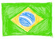 Brazilian flag sketch