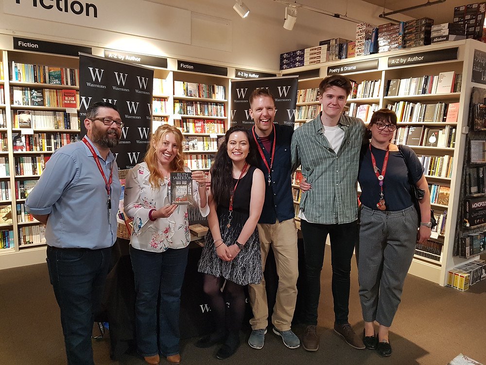 Ruth Saberton and team from Waterstones Drake Circus Plymouth