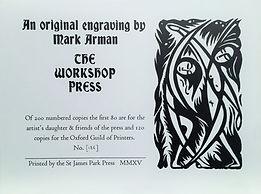 Workshop Press linocut
