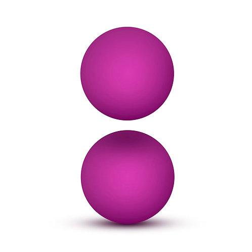 Blush Novelties Luxe Double O Advanced Kegel Balls Weighted 1.3oz, Pink