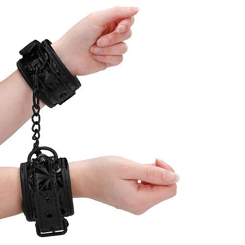 Shots Toys Ouch Luxury Handcuffs, Black