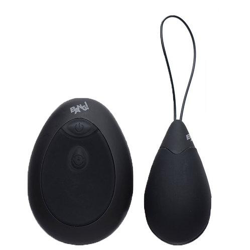 XR Brands 10X Silicone Vibrating Egg Black, sex toy egg vibrator