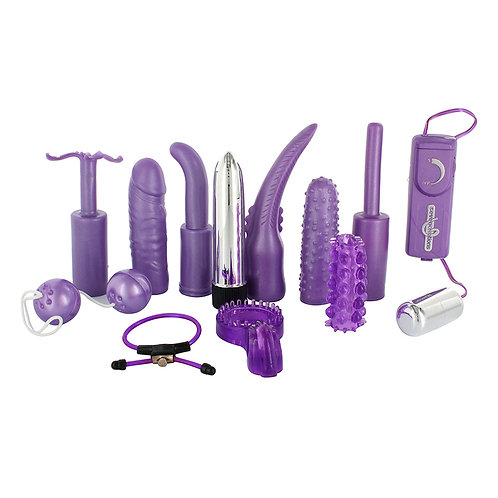 Seven Creations Dirty Dozen 12 Piece Sex Toy Kit Purple, sex toy kit
